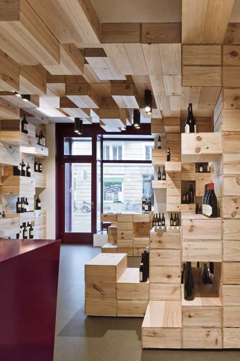 Albert Reichmuth Wine Store by OOS.  Love the way the wine is displayed
