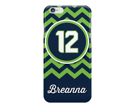 12th Man Seattle Chevron Blue and Green iPhone by NoondaybyTracey