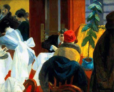 Edward Hopper (1882-1967) New York Restaurant (1922)