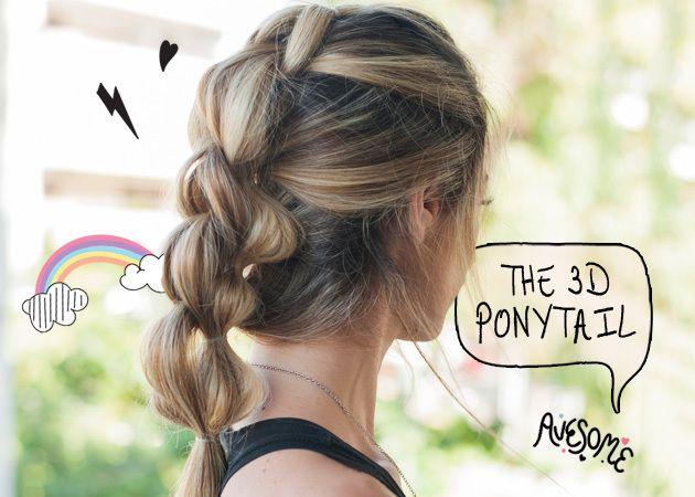 Το εντυπωσιακό 3D ponytail! Πώς να το κάνεις πανεύκολα!