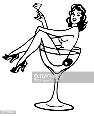 Image Result For Woman In Cocktail Glass Tattoo