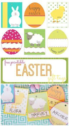 28 best izziwizzi kids easter crafts images on pinterest easter free easter basket gift tags negle Image collections