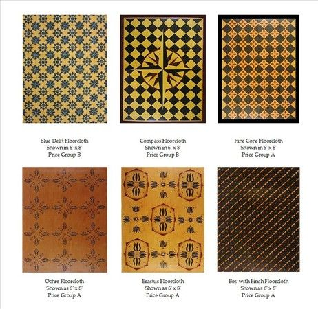 65 Best Images About Primitive Colonial Floorcloths On