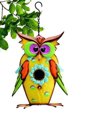 Another great find on #zulily! Tin Owl Birdhouse #zulilyfinds