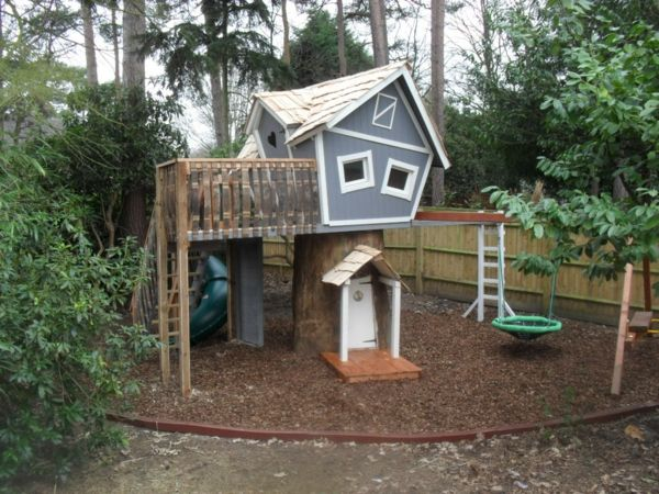 best 25+ kinderspielhaus holz ideas on pinterest, Gartenarbeit ideen