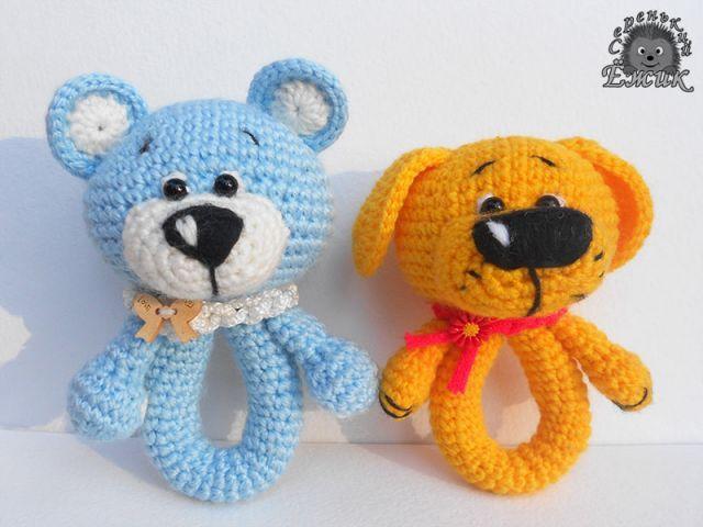 Sonajeros oso y perro - mi povyazushki - Galería - admiradores amigurumi (juguetes de punto)
