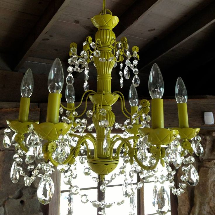 Up-cycling all of the cheap chandeliers that came with the place... could work :D