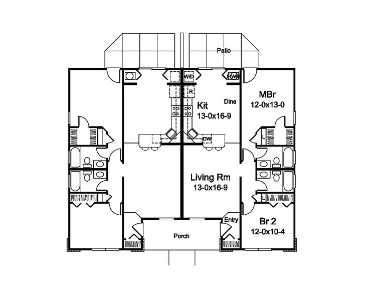 1000 Ideas About Duplex Floor Plans On Pinterest In Law