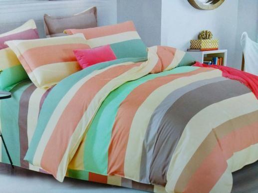 Ткань для постельного белья, цветная полоска