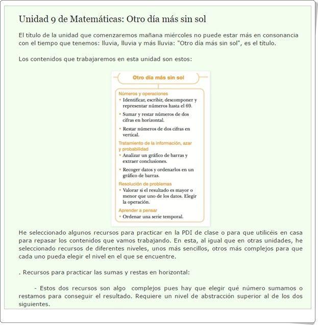 """Unidad 9 de Matemáticas de 1º de Primaria: """"Números hasta el 69"""""""