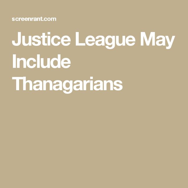 Justice League May Include Thanagarians