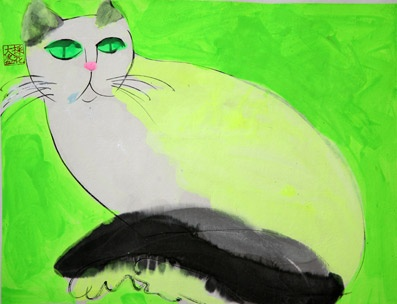 Green-eyed cat | by Walasse Ting