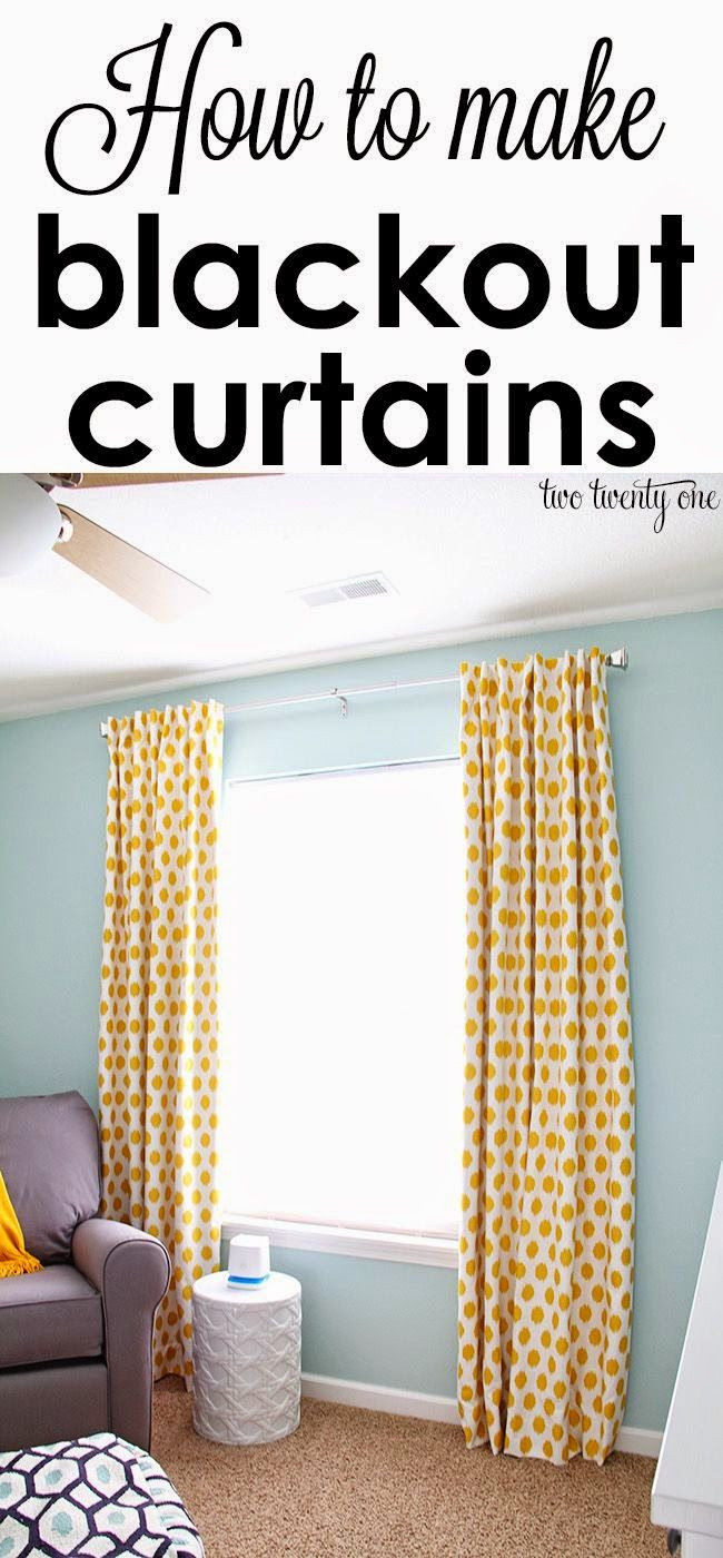 Homemade curtains - Best Diy Projects How To Make Blackout Curtains