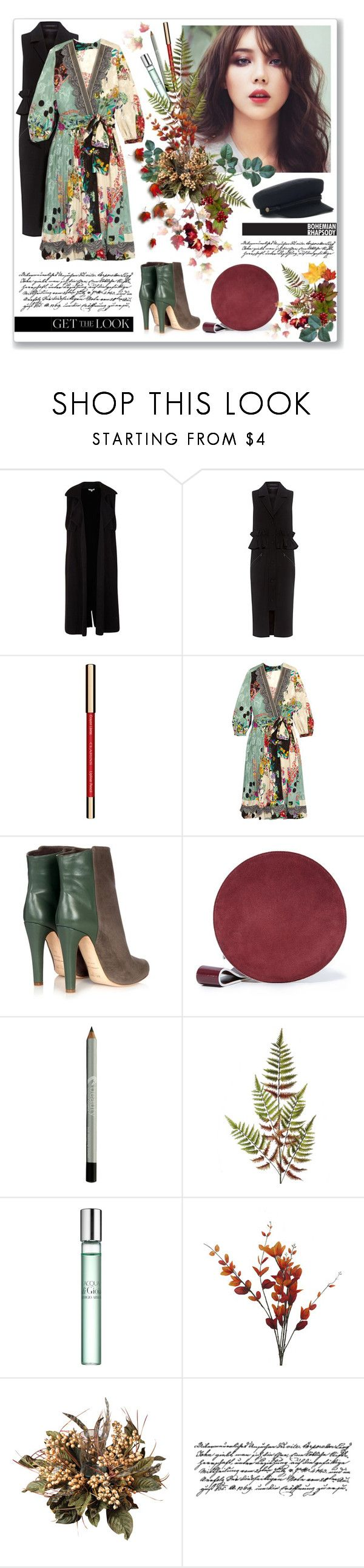 """""""Printed dress for fall"""" by mariarty ❤ liked on Polyvore featuring Mother of Pearl, John Lewis, Etro, Malone Souliers, Diane Von Furstenberg, Sephora Collection, Nearly Natural and Tim Holtz"""