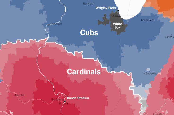 Up Close on Baseball's Borders - NYTimes.com - Cards v Cubs rivalry on a map :)