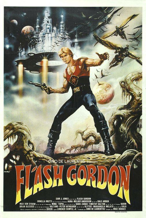 flash gordon 1980 movie posters pinterest