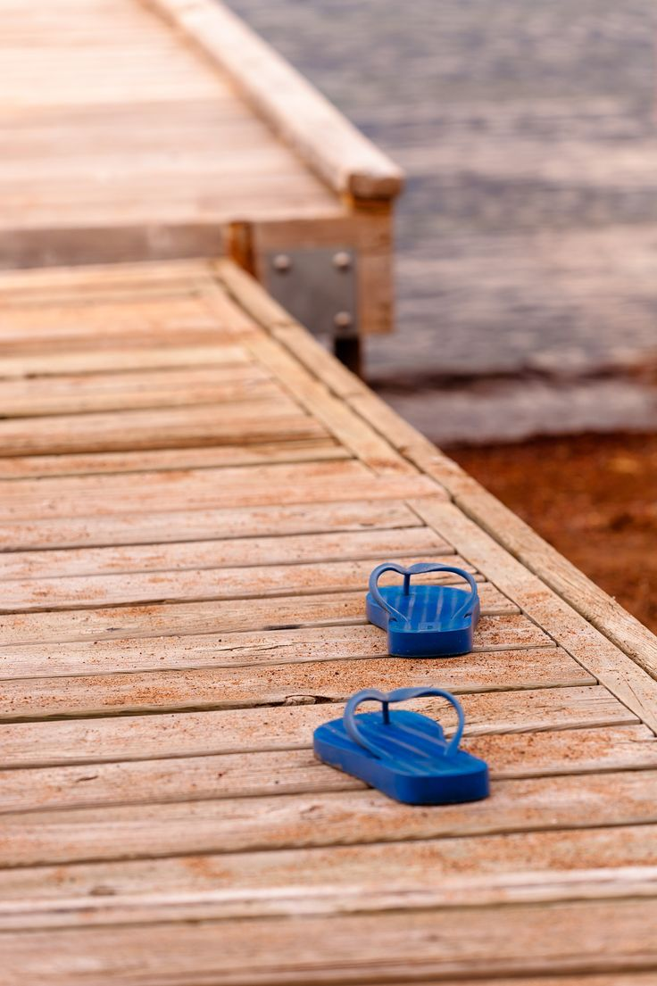 Stepping Out - These sandals were on the dock for much of last week.  Never did…
