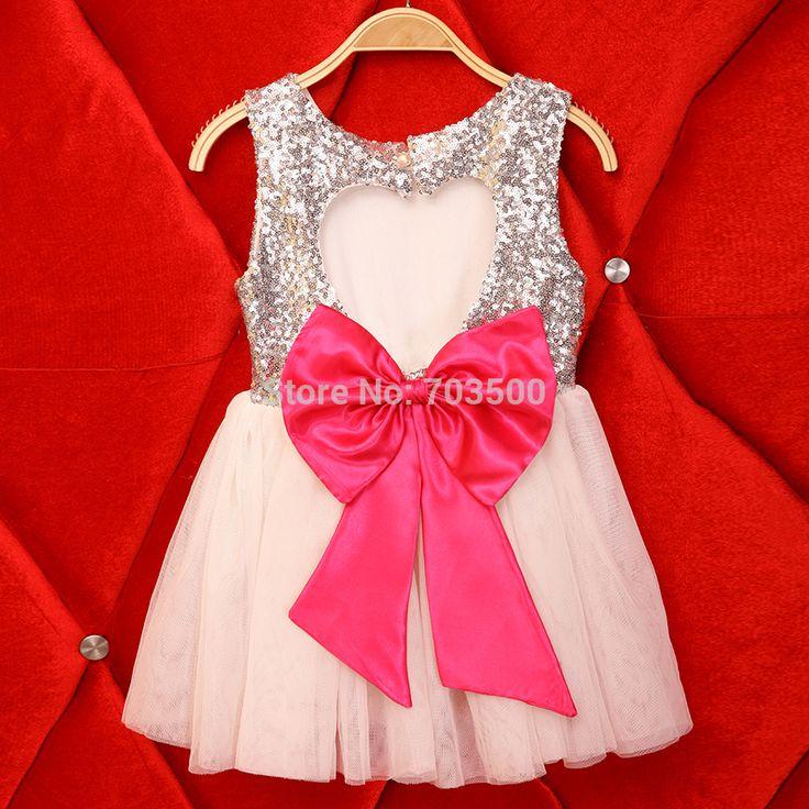 Aliexpress.com: Comprar 2016 nuevos niños del bebé de plata de lentejuelas arco de la rosa vestidos fiesta, Girls Princess cc409 la danza flor 5 unids/lote, venta al por mayor de vestidos en Nueva York fiable proveedores en sea kids mall
