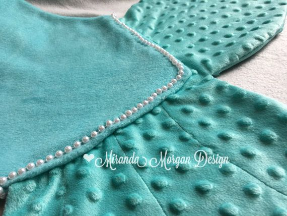 Mermaid Tail Blanket Hand Sewn String of Pearls Add On! Mermaid Tail Blanket by MirandaMorganDesign https://www.etsy.com/listing/265885512