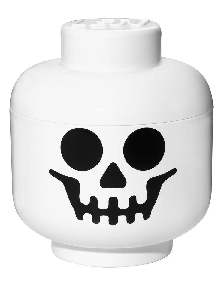 Storage Box . LEGO Skeleton Head