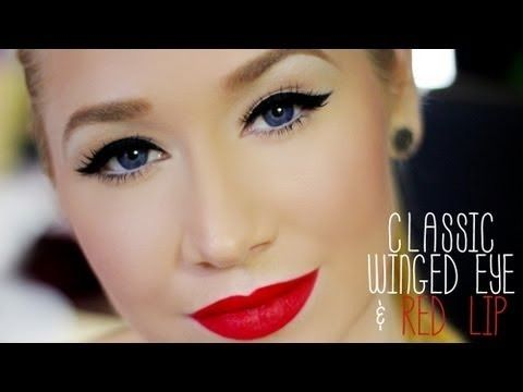 Classic Winged Eye  Red Lip Completed Look (Super Easy) + Extra Tips/Tricks
