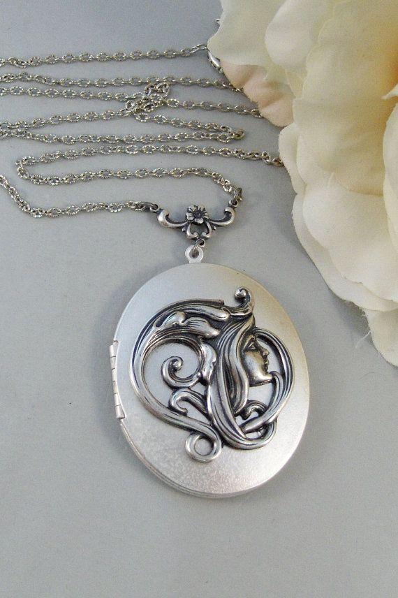 Woodland Fairy Medaillon Silber Medaillon Mädchen Märchen
