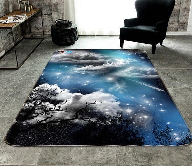 3d Stars Sky Clouds 179 Non Slip Rug Mat Mat Rugs Stars At