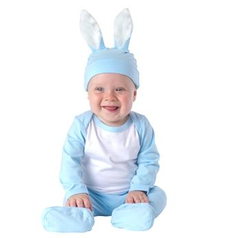 Blue bunny outfit for your baby boy...