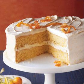 Orange Cream Layer Cake | Recipe