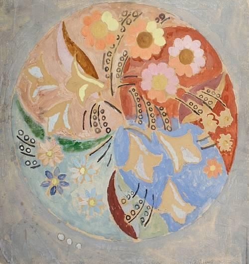 """""""I enjoy the spring more than the autumn now. One does, I think, as one gets older."""" - Virginia Woolf, Jacob's Room. Art: Duncan Grant, Circular composition with flowers"""