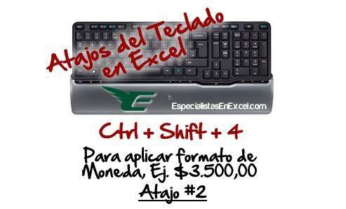 http://especialistasenexcel.com/ Atajo del teclado para aplicar formato de moneda rapidamente en Excel CTRL-SHIFT