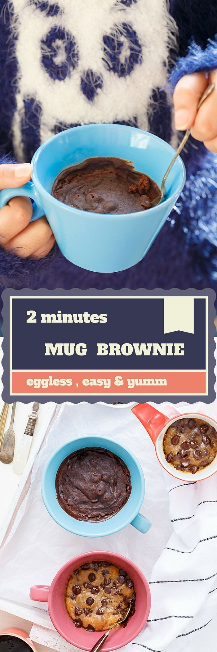 2 Minutes Eggless Chocolate Mug Brownie