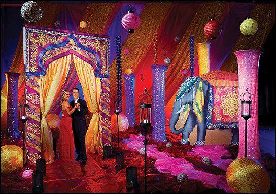 Colourful drapes