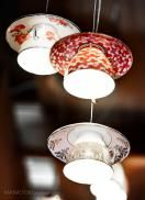 Electric Mavis luminare - Made from recycled pre loved tea cups and saucers