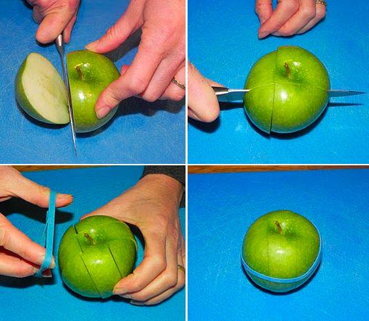 A maçã na lancheira da escola