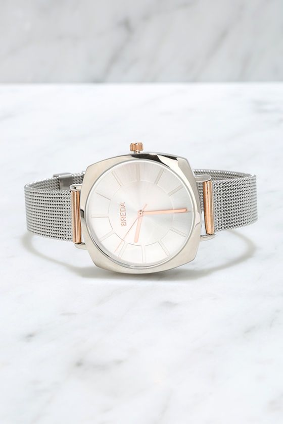 Two-Tone Rose Gold and Silver Watch//