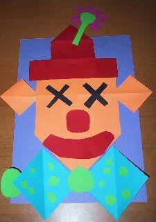 Circus platte vlak knutselen