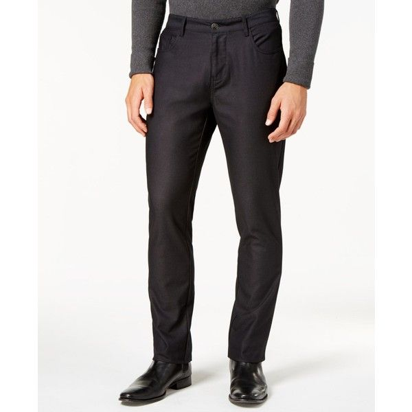 Ryan Seacrest Distinction Men's Slim-Fit Black Dress Pants, Created... ($90) ❤ liked on Polyvore featuring men's fashion, men's clothing, men's pants, men's dress pants, oxford, mens suit pants, mens slim dress pants, mens dress pants, mens slim fit suit pants and mens slim fit pants