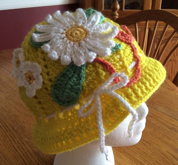 Adult Crochet Panama Hat Clouche hat Easter by DancingStitchesWest