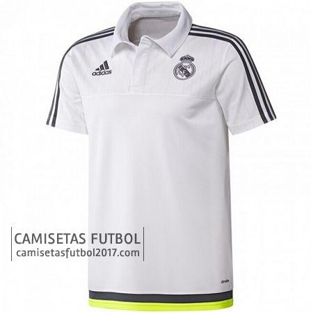 Polo de entrenamiento blanco Real Madrid 2015 2016 | camisetas de futbol baratas