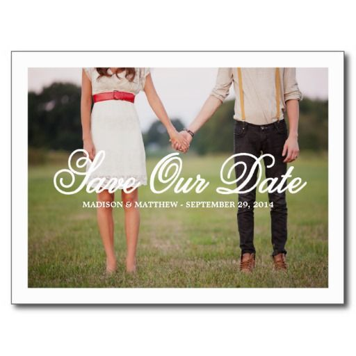 Save Our Date   Save the Date Postcard