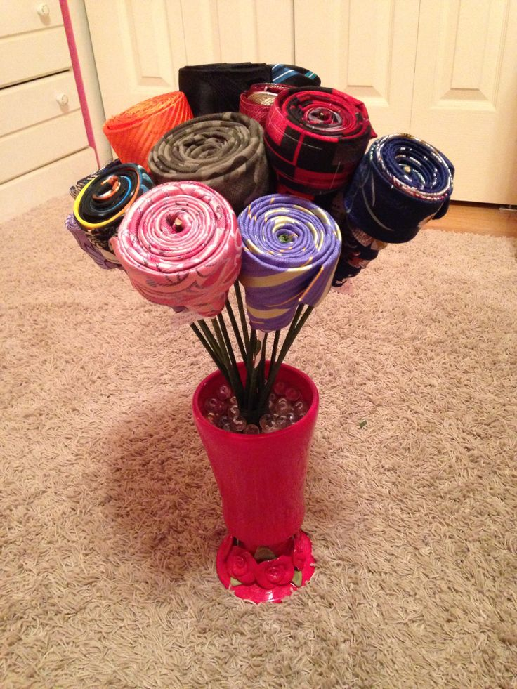Necktie Bouquet.  Like the general idea for a new spin on gifting a necktie! Doubt I would give that many.