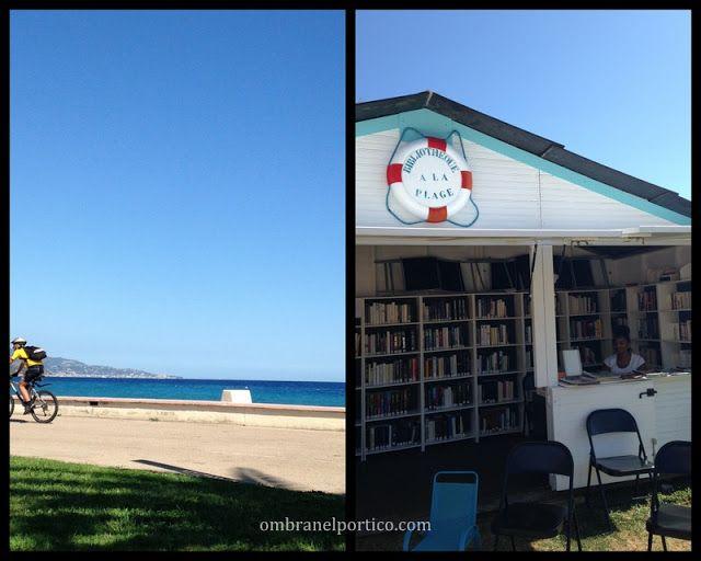 A Mentone la biblioteca é in spiaggia - Ombra nel portico