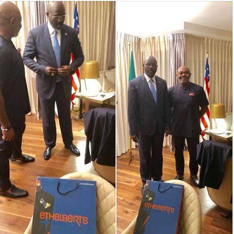 ICYMI: George Weah Looks Dapper As He Rocks 'Made In Nigeria' Suit In Abuja (Photos) #News