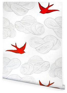 Daydream Wallpaper, Orange - contemporary - wallpaper - Hygge & West