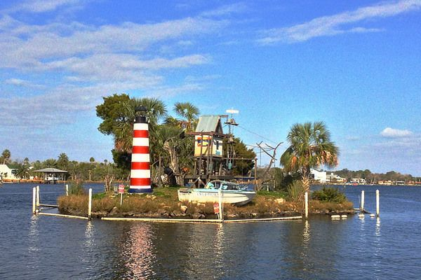 In Florida, these naughty monkeys live on their own mini-monkey Alcatraz - Homosassa