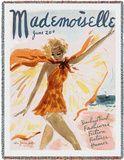 Mademoiselle June 1936 Throw Blanket by Helen Jameson Hall