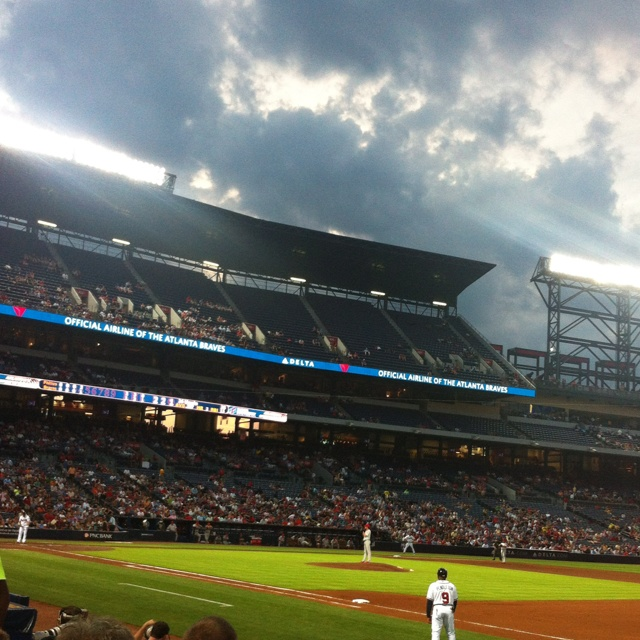Baseball game, Atlanta Braves!!!! So excited to take Jagger to a Braves game in may when we go back to see Steph!!!!!