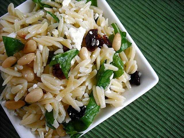 Orzo Salad With Tomatoes And Pine Nuts Recipe — Dishmaps