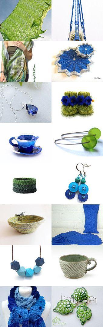 Blue and Green Gifts by Marlena Rakoczy on Etsy--Pinned+with+TreasuryPin.com